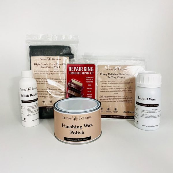 Antique Furniture Polishing Restoration Kit - Medium to Dark Woods