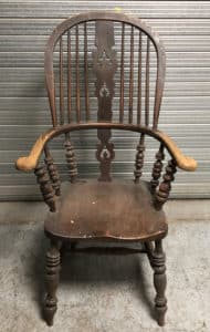Windsor Chair before Priory Polish Reviver
