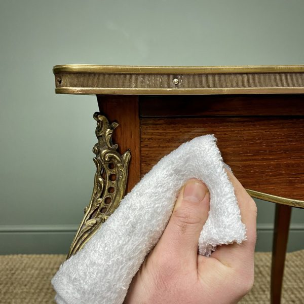 Using Our Priory Polishes Cotton Wax Buffing Cloths