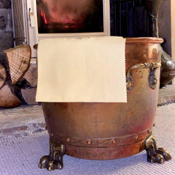 Brass Cloth on Bucket
