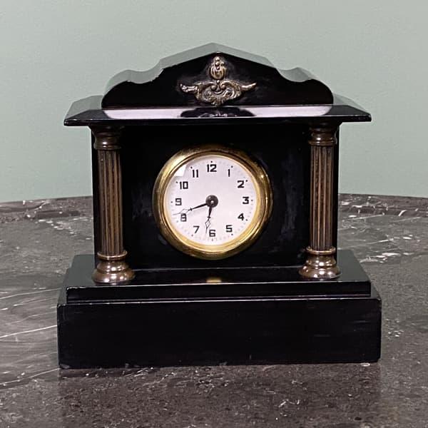 restored slate black clock