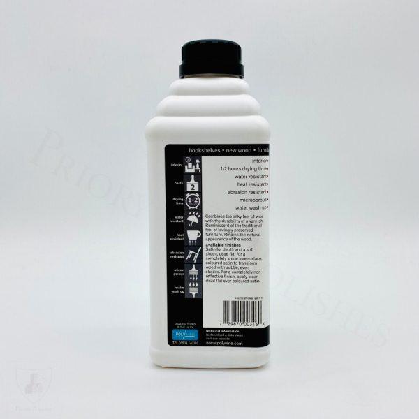 Polyvine Wax Finish Varnish - Back