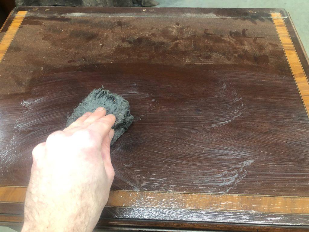 Revive Wood Furniture applying reviver