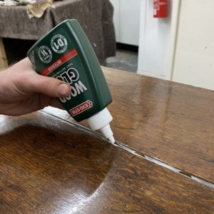 Apply the wood glue