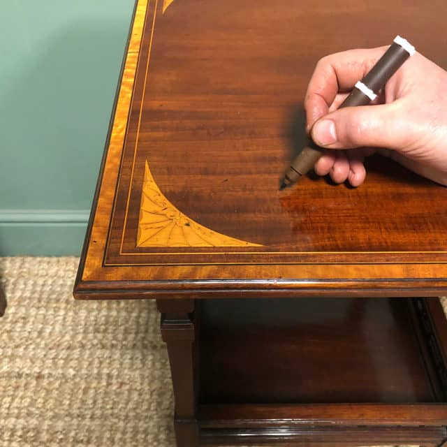 repair a scratch in wood furniture