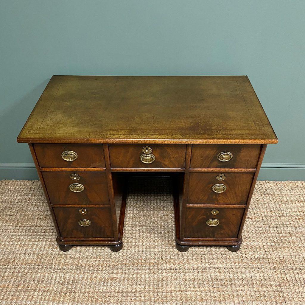 desk leather finished