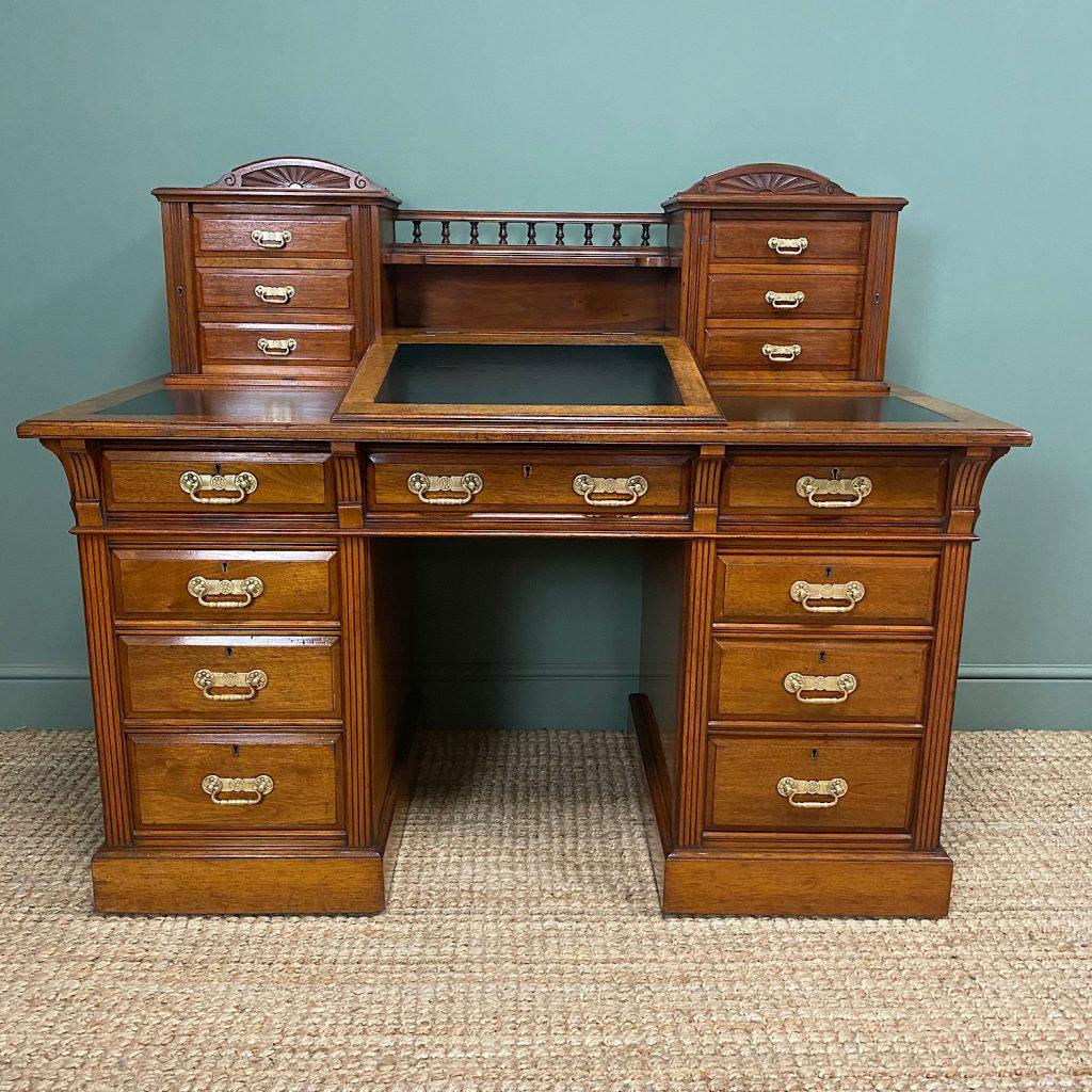 finished handles back on desk