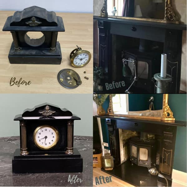 Priory Polishes Slate Blacking - Before & Afters