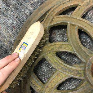 Bronze Liming Brush to remove rust