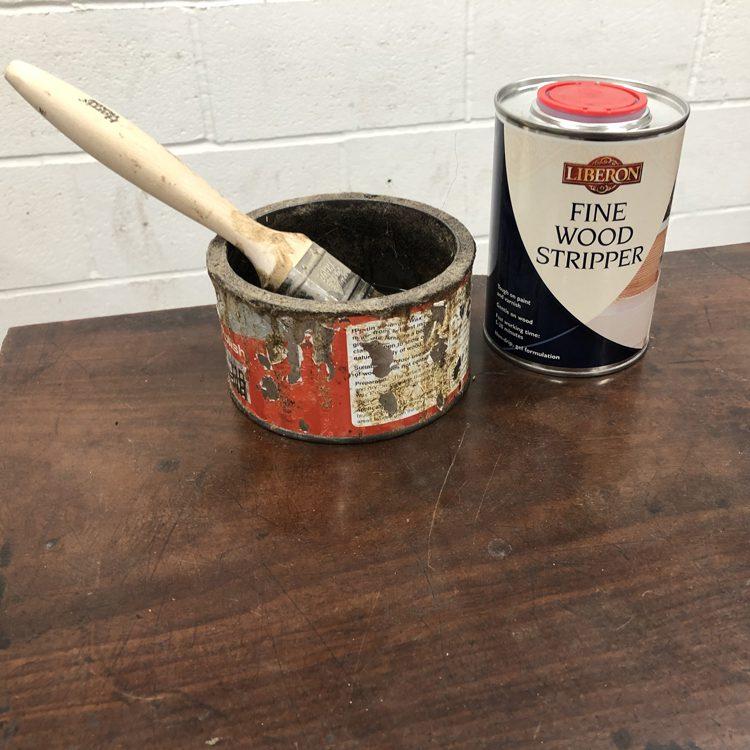 Pour Stripper into a suitable tin