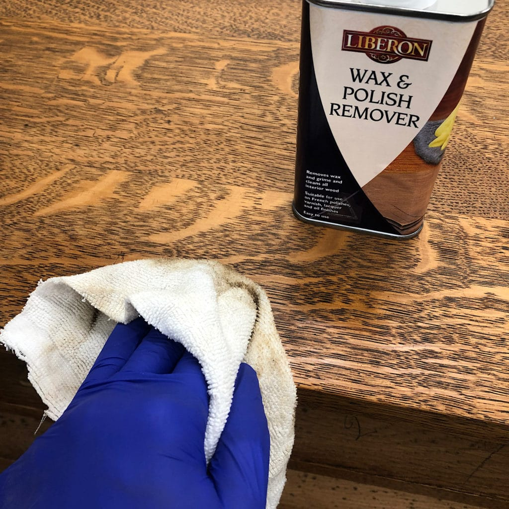 Use wax and Polish remover to neutralise